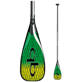 Quickblade V-Drive 91 Green/Yellow Vector Net Oval Shaft Uncut