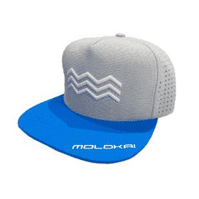 Molokai 2021 Flat Cap  (Grey/Blue)